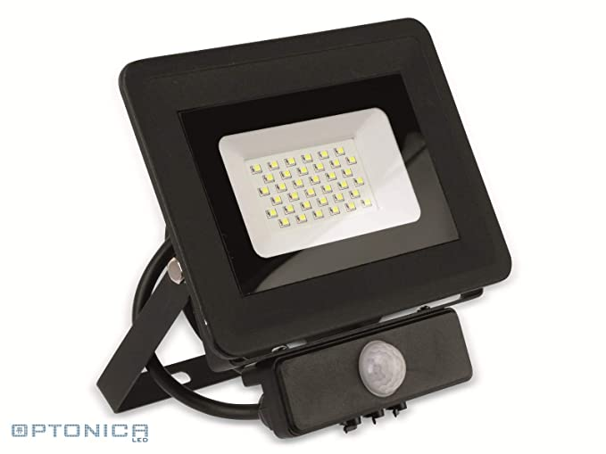 Proyector LED 30 W a detector Fin equivalent 200 W negro Optonica ...