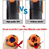 ActionUnion 2pcs Tactical CS Hand Grenades with Pin Water Bullet Bomb BB Impact Shower Refill Spring Powered Round ABS +10000pcs Bullet Balls for Airsoft BBS Foam Balls Game Toys Gift