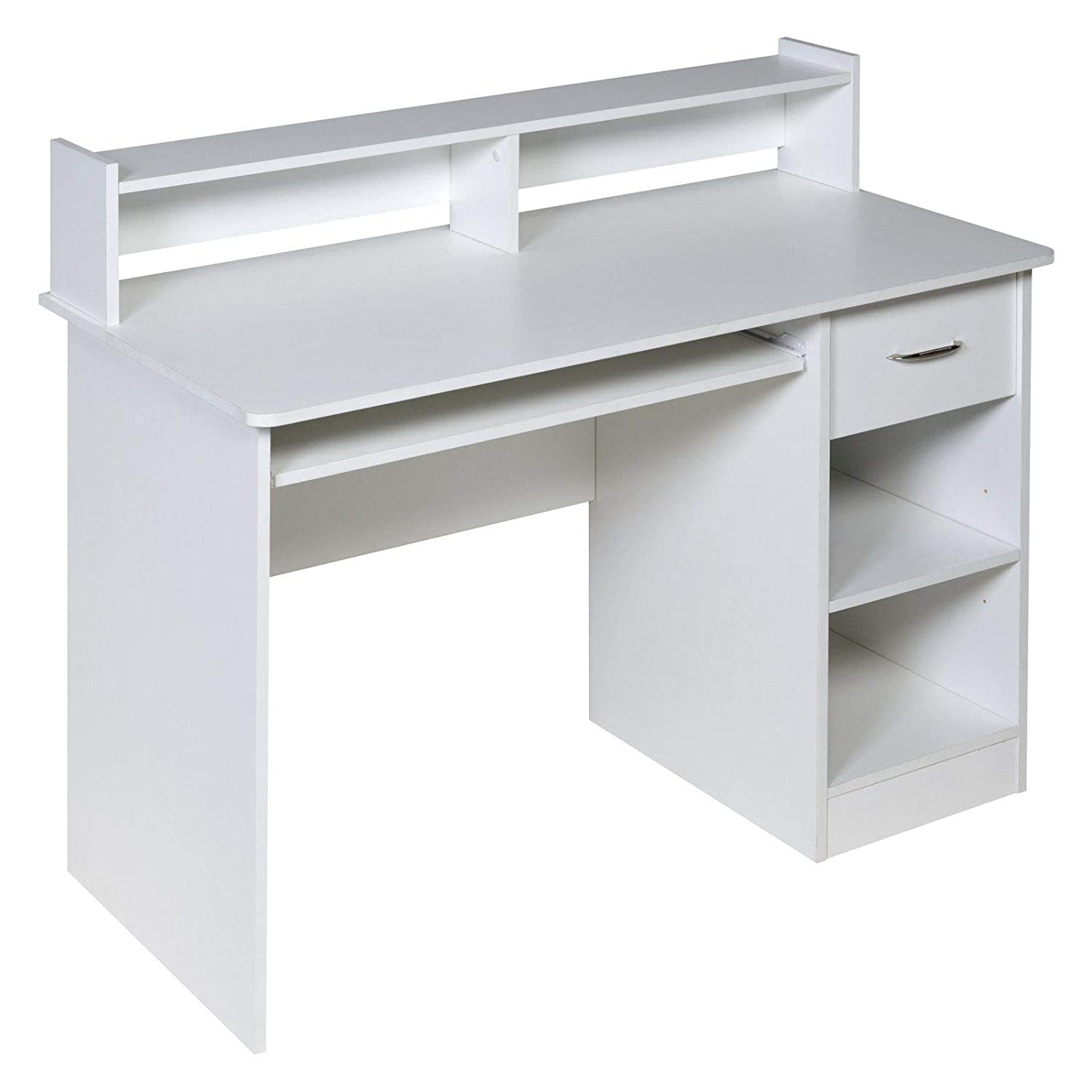 - Furniture OneSpace Essential Computer Desk Hutch With Pull-Out