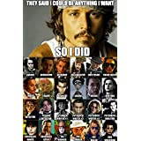 """Johnny Depp (Quotes 10) Poster 12 x 15 """""""