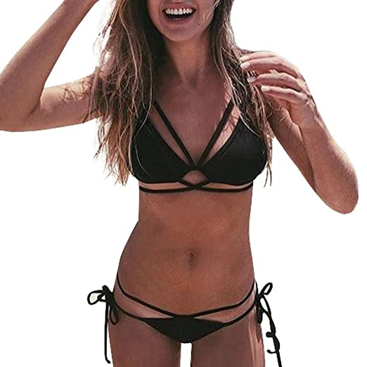 f95638fcf1479 Amazon.com: Perman Women Bikini Set, Summer Sexy Push-Up Two-Piece Bandage  Slim Fit Swimwear Swimsuit for Sale -ST2321: Clothing