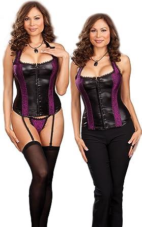 be74bdd54e0a7 Amazon.com  Plus Size Sexy Corset Lingerie Set - 3X 4X  Adult Exotic ...