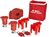 Brady Valve Lockout Pouch Kit, Includes 2 Safety Padlocks