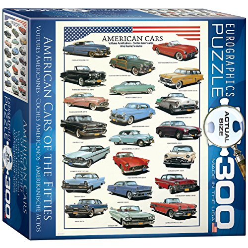 American Cars of The Fifties 300-Piece Puzzle