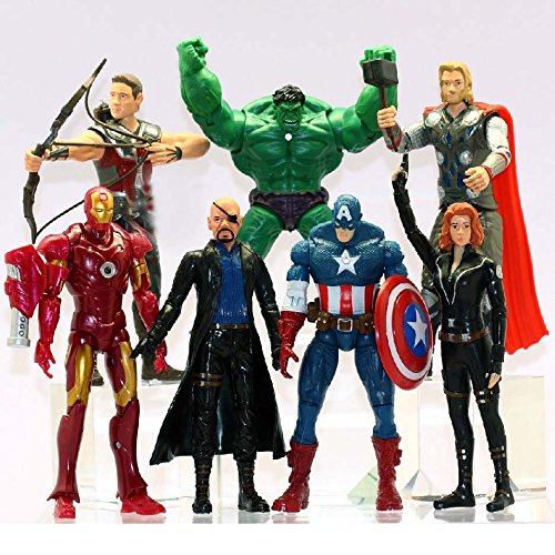 [2016 7 PCS The Avengers Hulk+Captain America+Black Widow+Iron Man+Thor Figure US Kids Action Figure Toys Robot Kids] (Randy Orton Costume)