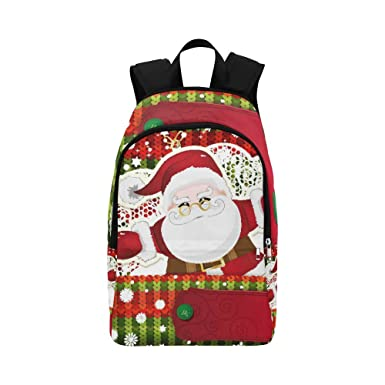 Interestprint Happy Christmas Day Custom Casual Backpack School Bag Travel Daypack Gift