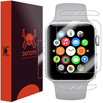 Skinomi TechSkin - Protection Apple Watch Series 3 (38 mm) impermeable. Film de