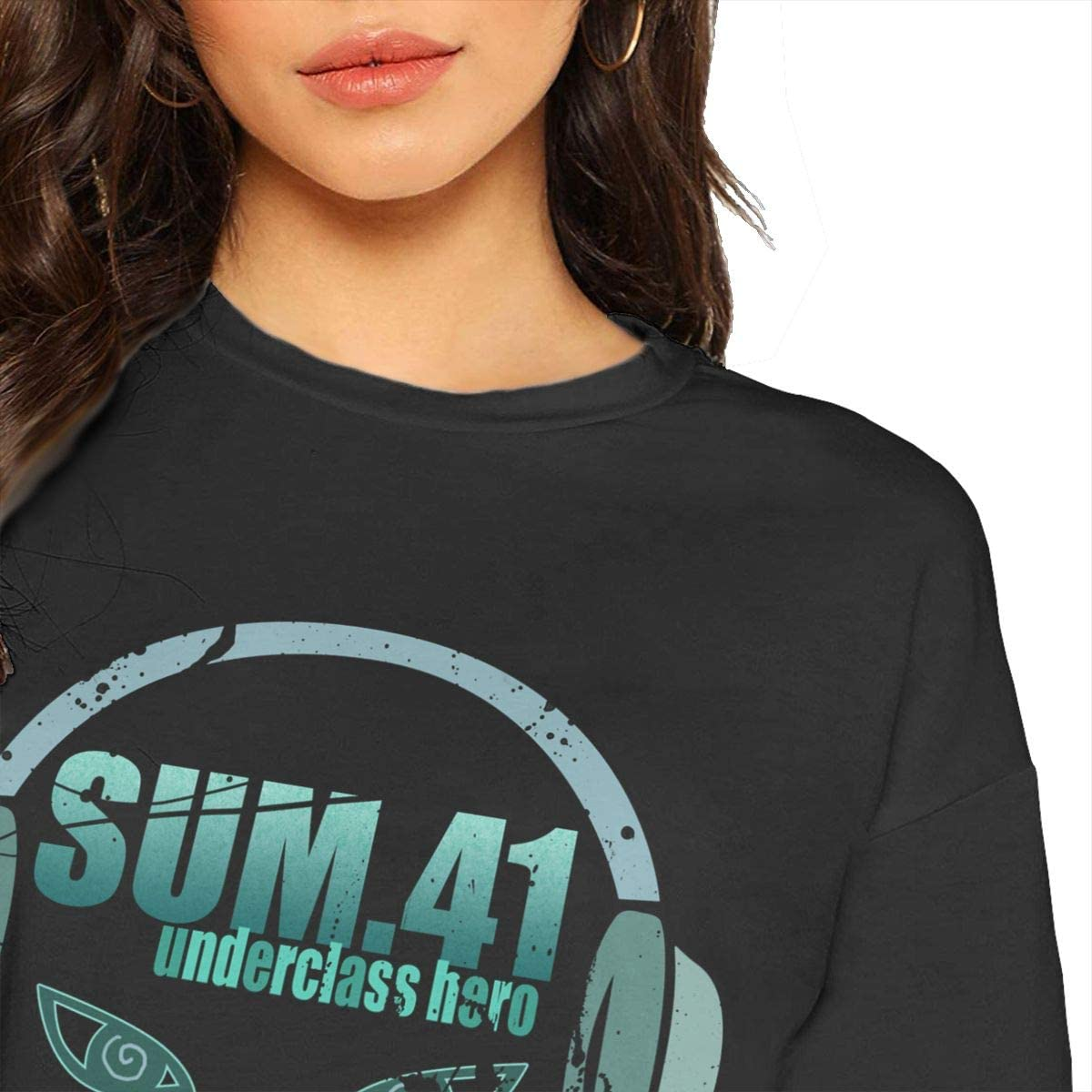 Sum 41 Womans Novelty Leak Navel T-Shirt