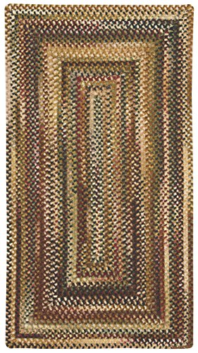 Capel Rugs Eaton Rectangle Braided Area Rug, 2 x 3', Burgundy (Capel Rugs Chenille Rug)