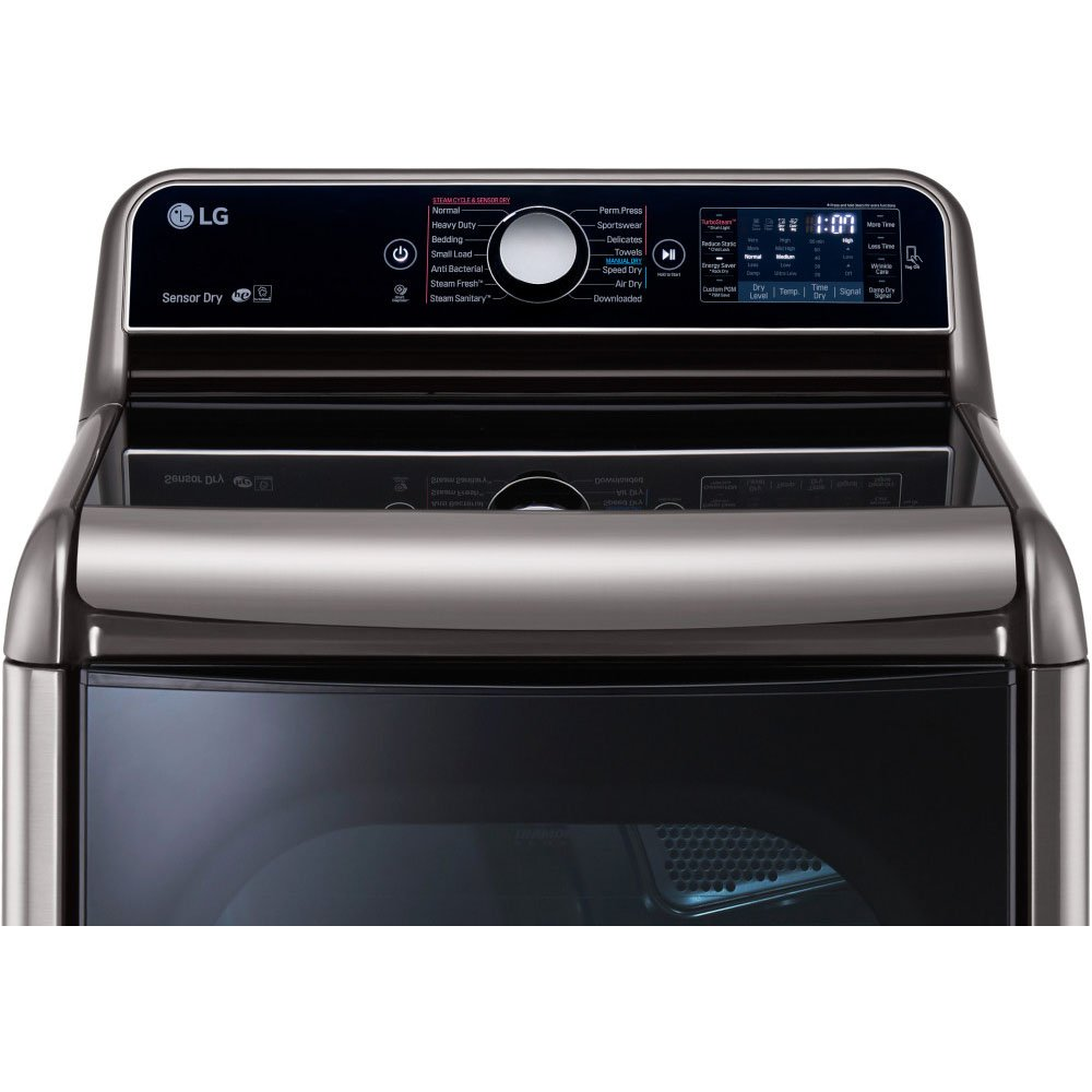 amazoncom lg dlex7700ve steamdryer 90 cu ft graphite steel with steam cycle electric dryer electronics
