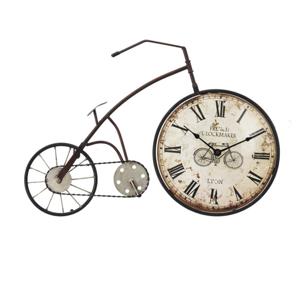 Lozse Vintage Fahrrad-Wanduhr Kreatives dekorativ Wanduhr Haupt Schlafzimmer Wohnzimmer Wanduhr