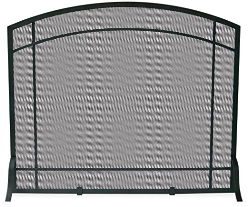 Uniflame, S-1029, Single Panel Black Wrought Iron Mission Screen (Flat Single Panel Small)
