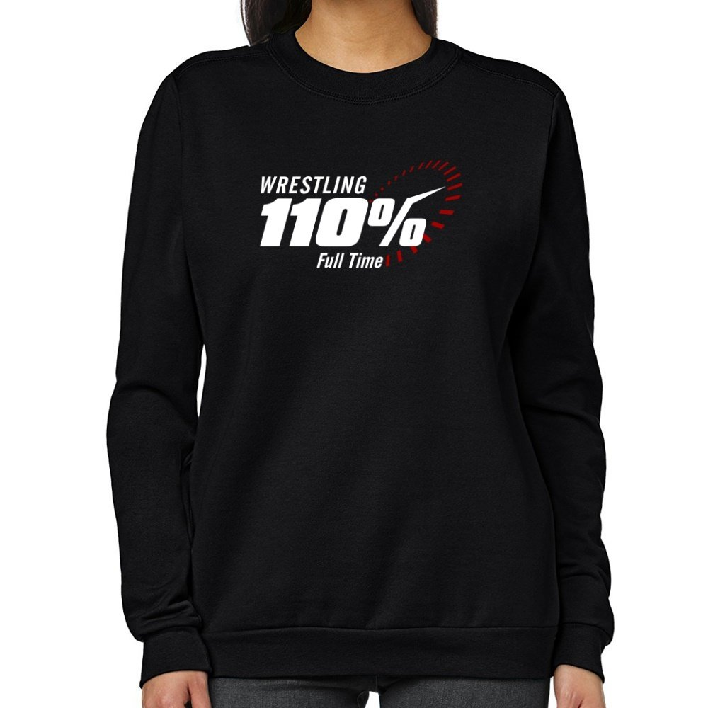 Teeburon Wrestling 110 FULL TIME Women Sweatshirt by Teeburon