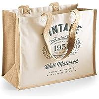 Design, Invent, Print! 70th Birthday Gift Bag for Women Canvas Novelty Shopping Keepsake Tote 42 x 33 x 19cm