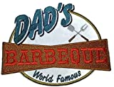 Lets go outback for BBQ Apron Design [Dad's World Famous Barbeque] Embroidered Iron On/Sew patch [6.1 X 4.9]Made in USA]