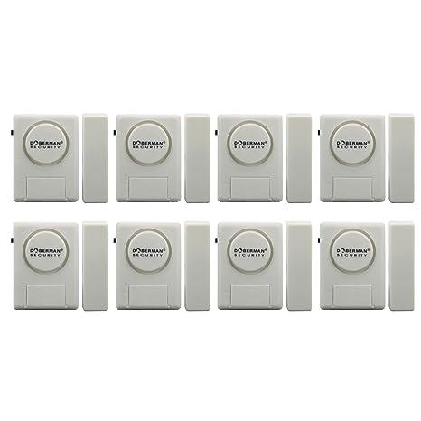 Doberman Security SE-0137-8PK Home Security Window/Door Alarm Kit, 8 Pack (White)