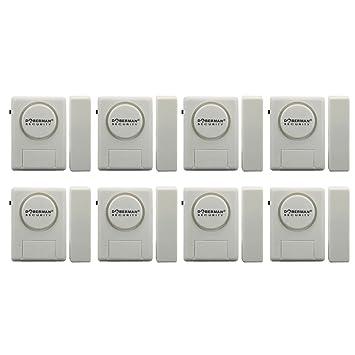 White 8 Pack Doberman Security SE-0137-8PK Home Security Window//Door Alarm Kit