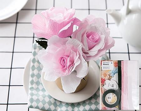 Diy Crepe Paper Flower Template Kit Roses Paper Floristry