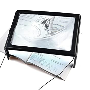 fenguh Ultrafino Lupa en Hoja Completa A4 Lupa con Luz LED de ...
