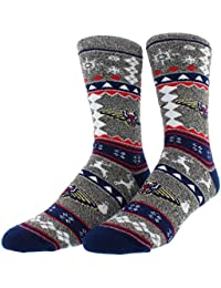 Mens New Orleans Pelicans Ugly Sweater Socks Heather Black