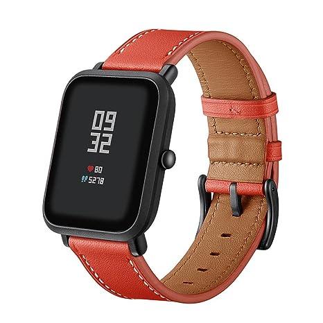 squarex Cuir véritable Montre Band Sangles de Poignet Bracelet pour Xiaomi  Huami Amazfit BIP Youth Montre 4ebb91b6cefb