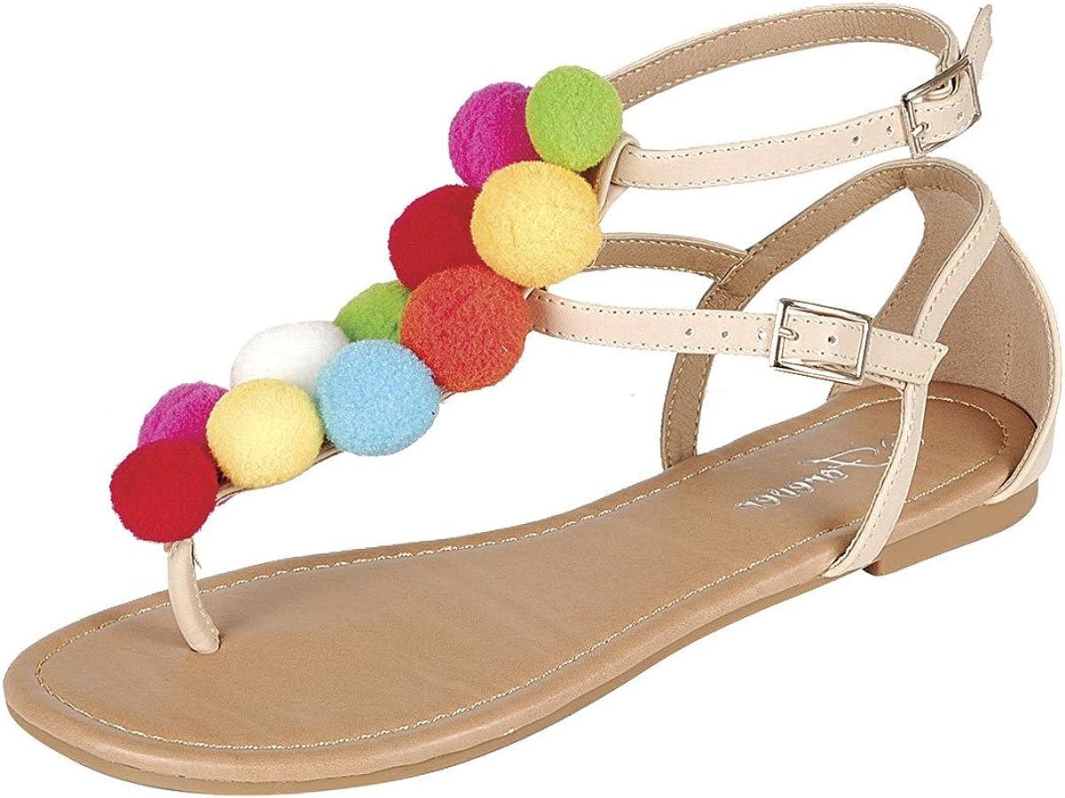 T-Strap Open Toe Flat Sandals