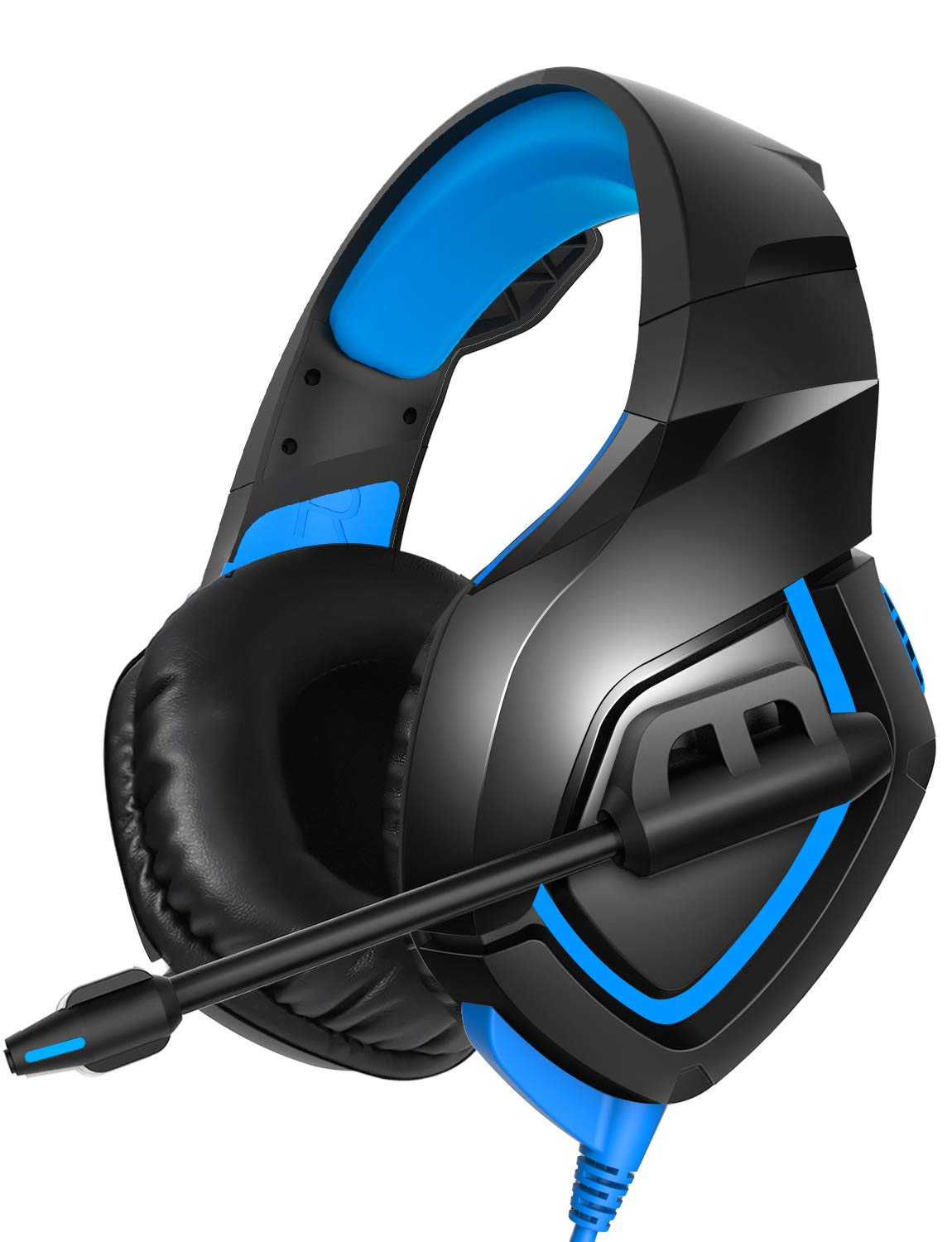RUNMUS Gaming Headset PS4 Headset with 7.1 Surround Sound Stereo, Xbox One Headset with Noise Canceling Mic, Compatible with PC, PS4, Xbox One Controller Adapter Needed , NS