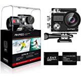 AKASO Brave 4 4K 20MP Wifi Action Camera Sony Sensor Ultra HD with EIS 30m Underwater Waterproof Camera Remote Sports Camcorder with 2 Batteries and Helmet Accessories Kit