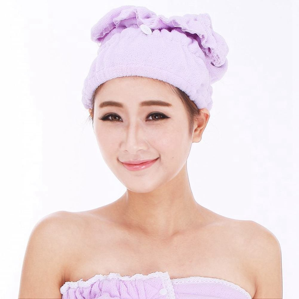 2 Pcs Hair Drying Towel,Beauty Essentials,Women's Soft Shower Quick Dry Hair Towel,Microfiber Head Wrap Hat for Long Hair,Makeup Cosmetics Cap,Bathing Tool