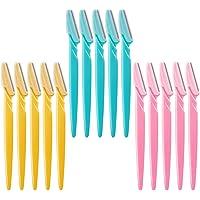 Maquinilla de afeitar para cejas, 15 piezas de herramientas de maquillaje, afeitadoras, recortadoras, removedor de…