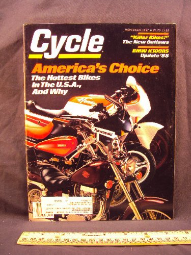 1987 87 November CYCLE Magazine (Features: Road Test for sale  Delivered anywhere in USA