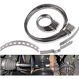 JL'S HOME Universal Adjustable Drive Shaft AXLE CV Joint Boot Crimp Clamp Kit,Stainless Steel,10pcs(5pcs Small+5pcs…