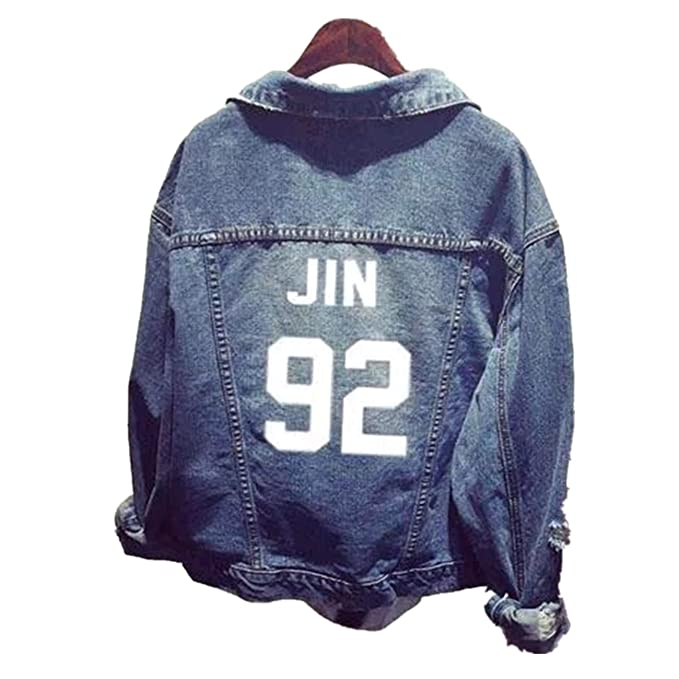 Unisex BTS Jacket Chaqueta Jeans Coat for Army BTS Kpop Hoodies Suga Jin Jimin Jung Kook J-Hope Rap-Monster V