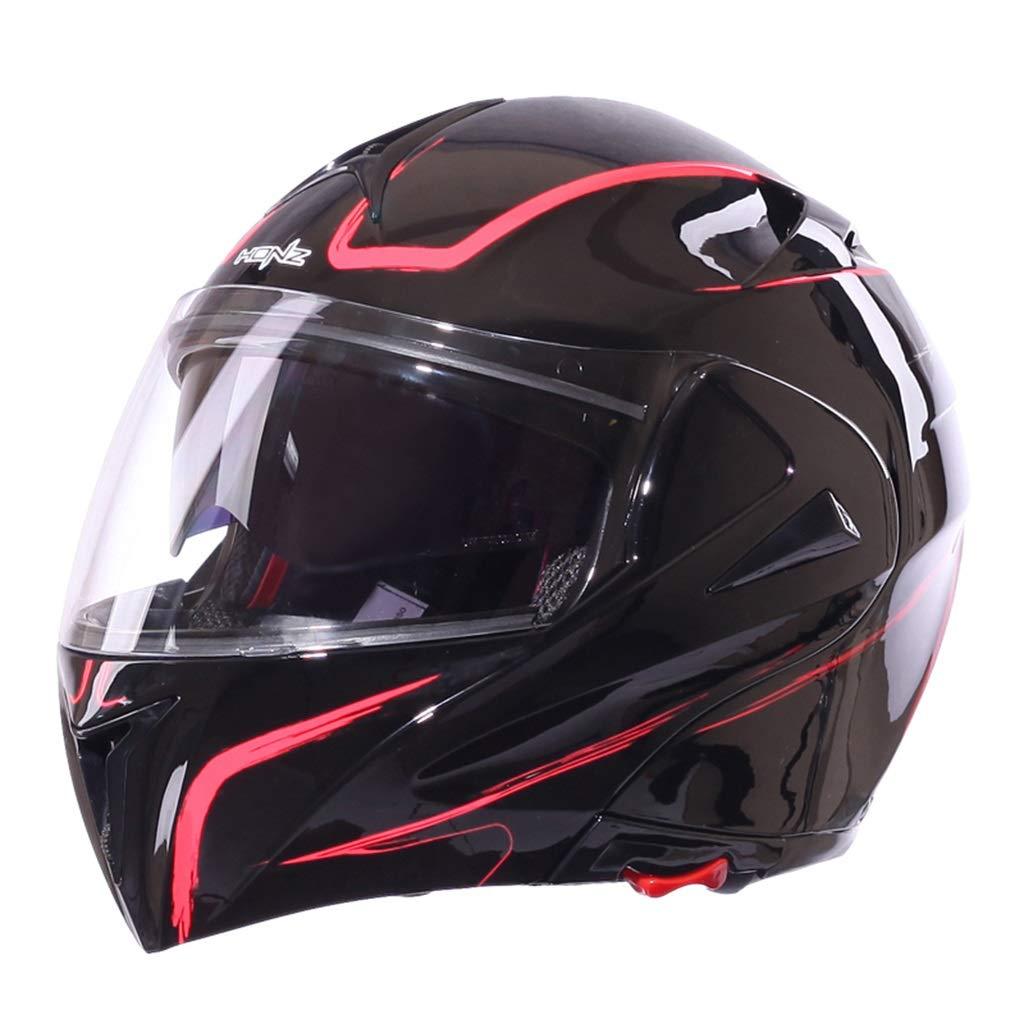 ヘルメット ヘルメット - オートバイフルカバーヘルメット四季ダブルレンズヘルメット (色 : B, サイズさいず : S s) B07HQQV8V8  B S s