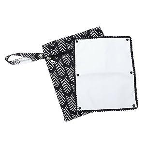 Sarah Wells Pumparoo Wet/Dry Bag for Breast Pump Parts (Black and White)