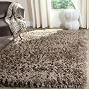 Safavieh Polar Shag Collection PSG800C Mushroom Area Rug, 4 x 6