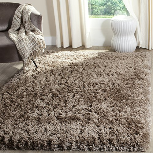 Safavieh Polar Shag Collection PSG800C Mushroom Area Rug, 4' x 6' by Safavieh