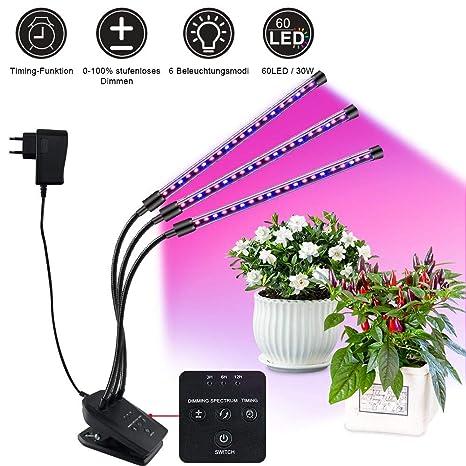 fhzytg LED planta Bombilla Regulable Luz de planta ...