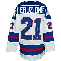$285 » Mike Eruzione Signed Custom White USA Hockey Jersey JSA ITP - Autographed Olympic Jerseys