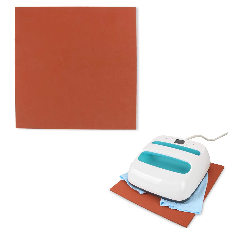 Luxja 12 x 12 Silicone Pad Compatible with Cricut Easy Press, Heat Press Mat Compatible with Cricut Easy Press, Gray