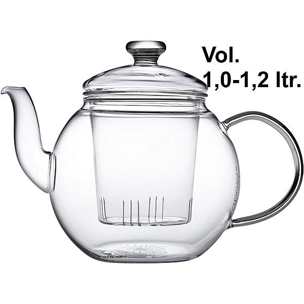 Teaposy Harvest - Tetera con Filtro (1,2 L, Vidrio de borosilicato ...