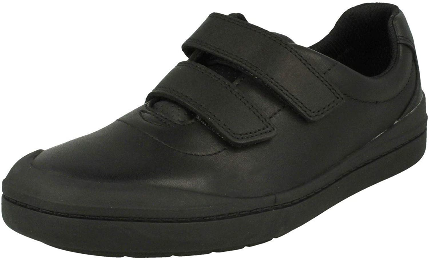 Clarks Rock Play Kid Leather Shoes in Black Standard Fit Size 13/½