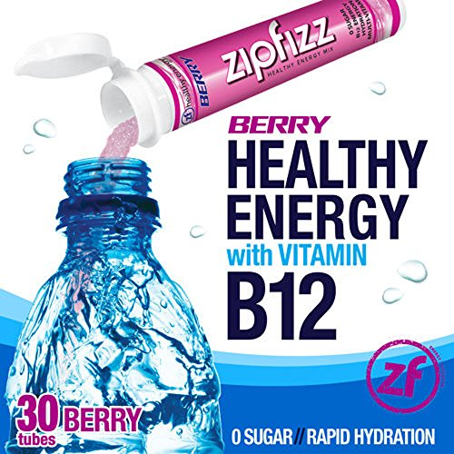 Zipfizz Berry Healthy Energy Drink Mix - Transform Your Water Into a Healthy Energy Drink - 2 Boxes, 30 Tubes Each