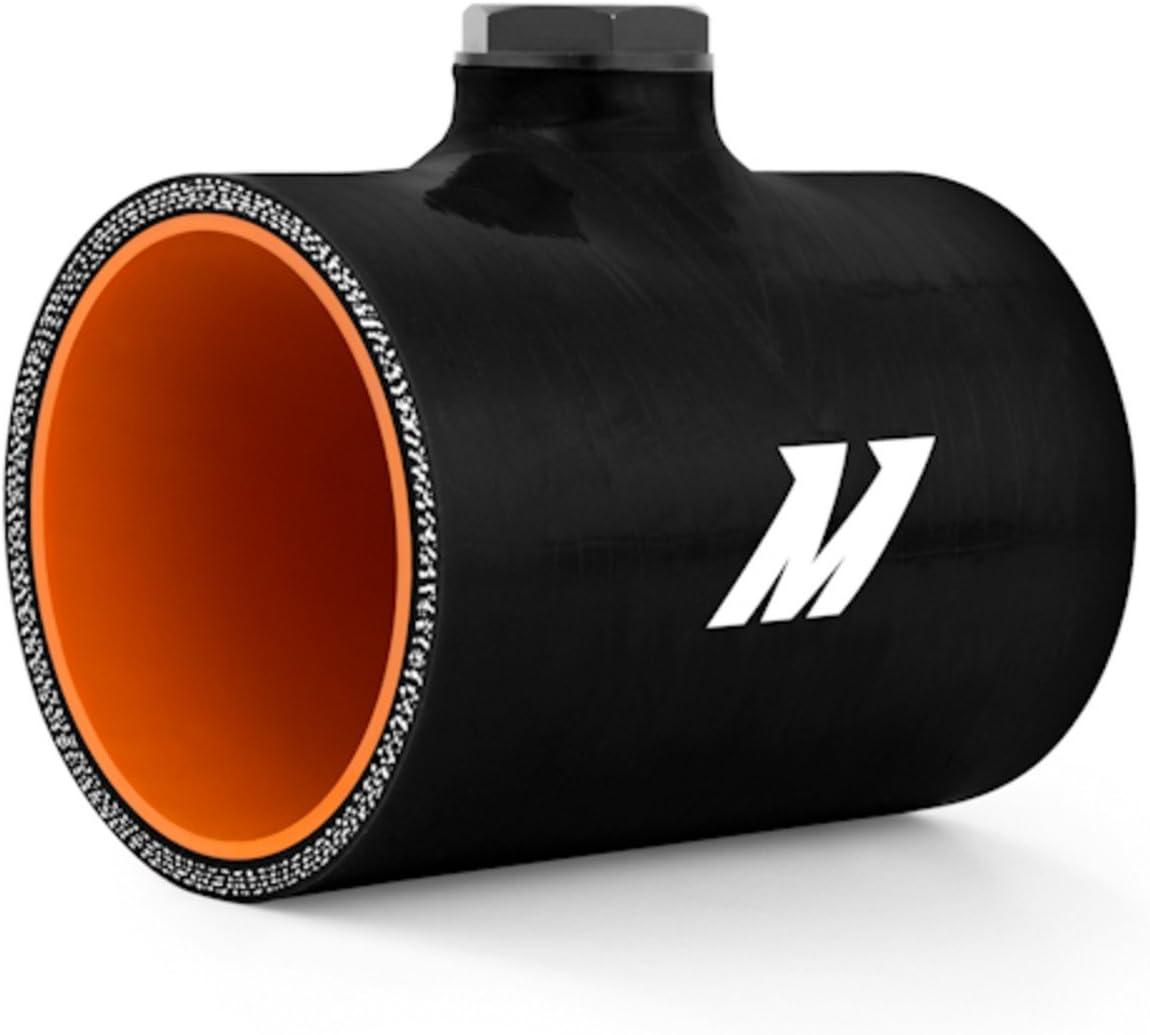 Mishimoto MMCP-25NPTBK Black 2.5 Silicone Coupler with 1//8 NPT Bung