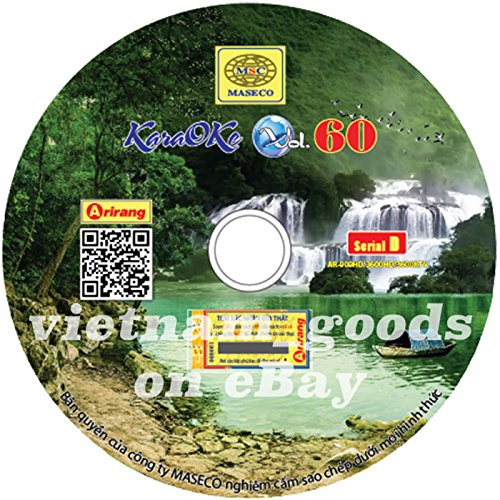 Arirang Karaoke Vision Midi Disc Vol 60 Serial D Vietnamese English For Arirang Player AR 909 HD / AR 3600 HD / AR 3600 KTV