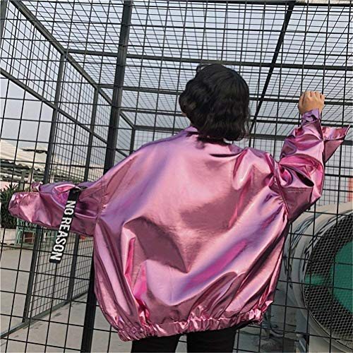 Fashion Bolawoo Rosa Maniche Outerwear Colore Mode Jacket Streetwear Hop Tendenza Donna Giacca Relaxed Ragazze Coole Puro Lunghe Baseball Marca Hip Autunno Casual Giacche Di rggtq