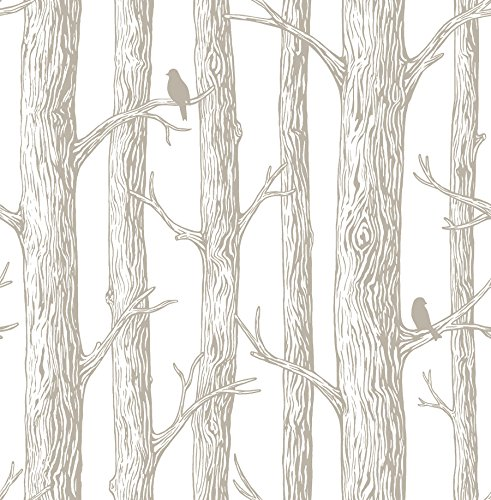 NuWallpaper NU2081 The Forest Timberland Peel and Stick Wallpaper, 20.5″