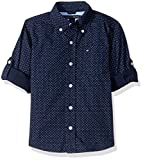 Tommy Hilfiger Little Boys Mini Stars and Dots Printed Shirt, Swim Navy, 4