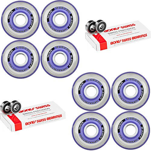 Labeda Millennium Gripper Purple Hockey Inline Wheels 76mm X-SOFT 8 Pack Swiss by Labeda