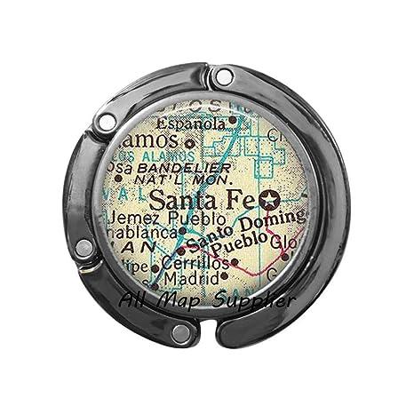 Amazon.com: Charming Purse Hook,Santa Fe map Bag Hook,map ...